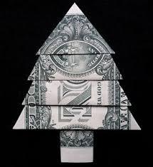 new year dollar bill origami christmas tree new year decor money 1 dollar bill