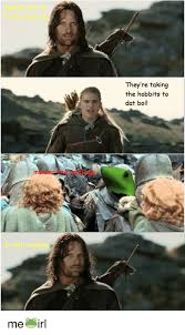 The Hobbit Meme - they re taking the hobbits to dat boi me irl hobbit meme on sizzle