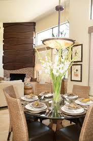 photos hgtv contemporary dining room with tall floral centerpiece