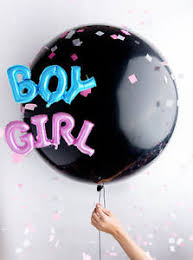 gender reveal balloons gender reveal balloon boy or girl baby shower confetti pink blue