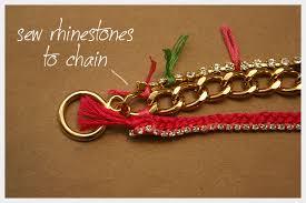rhinestone chain bracelet images Chain and rhinestone bracelet diy jpg
