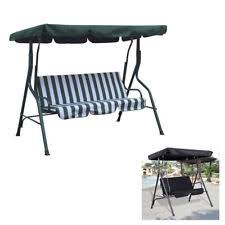 Rattan Swing Bench Outdoor Garden Rattan Swing Chair Swinging Hammock 4 Seater Bench