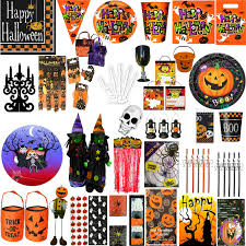halloween cups and plates halloween party tableware pumpkin pals and spooky cups plates