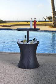 coffee table with cooler keter pacific rattan style outdoor cool bar ice cooler table