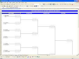 printable tournament bracket excel templates