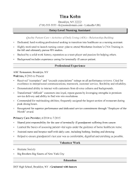 resume exles for jobs with little experience needed nursing assistant resume sle monster com