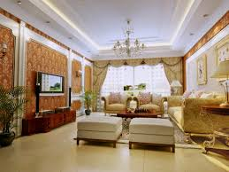 luxurious drawing room with designer wall 3d model max
