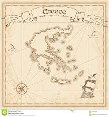 Delphi Greece Map by Greece Old Treasure Map Stock Vector Image 91424519