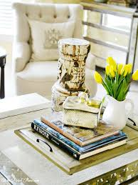 how to decorate a side table in a living room decorate a coffee table like a boss on a budget at the picket fence