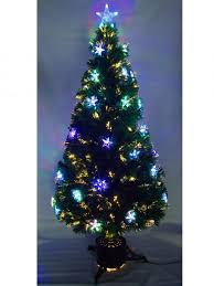 interior fabulous fiber optic tree with ornaments and