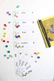 counting caterpillar busy bag printable numbers 1 10