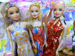 3 beautiful barbie dolls pretty angel charming