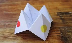 make a paper fortune teller kidspot