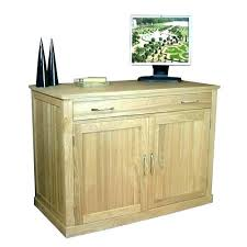 Oak Effect Computer Desk Oak Hideaway Computer Desk Small Hideaway Desk Desks Small