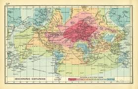 World Time Map Time Travel 1843