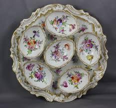 vintage deviled egg plate dresden porcelain franziska hirsch antique deviled egg plate
