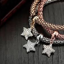 rhinestone bracelet charms images Rhinestone star bracelets charm bracelet sets star charm brcelet sets jpg