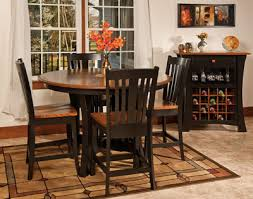 arts and crafts pub dining table custom amish built arts and