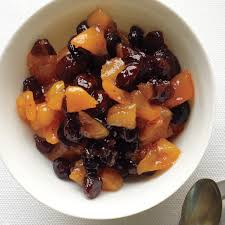 dried cranberry and apricot compote