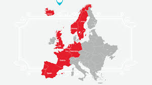 France On Europe Map by Coca Cola European Partners Our Heritage