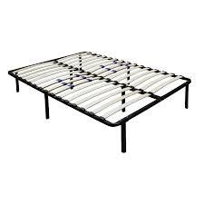 Metal Bed Frame With Wooden Slats Flex Form Platform Frame Metal Mattress Frames With