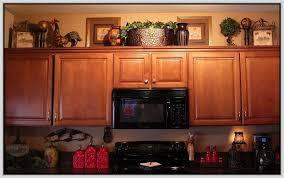 Modren Decorating Ideas For Above Kitchen Cabinets Design - Kitchen cabinet decor