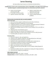 Truck Driver Resume Example Cover Letter Resume Examples For Truck Drivers Truck Driver Resume