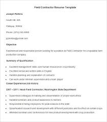 agriculture resume template u2013 24 free samples examples format