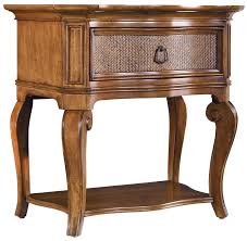 Slaters Furniture Modesto by Hooker Furniture Windward High Leg Nightstand With Raffia Accent