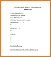 Incident Investigation Report Template by 10 Report Letter Sle Kozanozdra