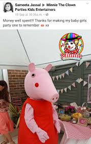 superman peppa pig and other minnie the clown parties children u0027s entertainers in london and