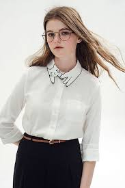 Black Blouse With White Collar Meow Meow Lady U0027s Blouse With A Kitty Collar Geekologie
