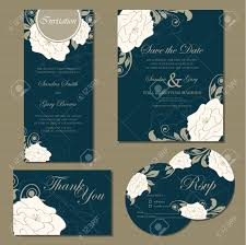 Rsvp Invitation Card Set Of Wedding Invitation Cards Invitation Thank You Card