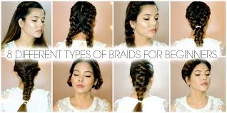 types of hair braids how to braid 8 different types of braids for beginners youtube