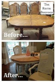 Vintage Dining Room Sets Vintage Dining Table And Cane Chairs Transformation Hometalk