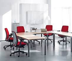 Furniture Design Ideas Choosing Chair For Office Modern Office Room With Red Chairs