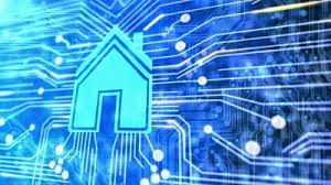 technology house stock footage animated printed circuit board with a house to