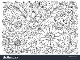 vector coloring page floral pattern doodle stock vector 463740953