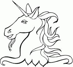 unicorn head coloring pages creativemove me
