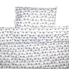Childrens Cot Bed Duvet Sets Grey Elephant Toddler Cot Bed Duvet Set By Lulu And Nat