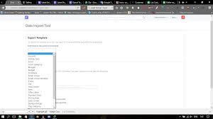 export template for selling u003e customer database erpnext