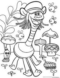 trolls movie coloring pages crafts trolls birthday