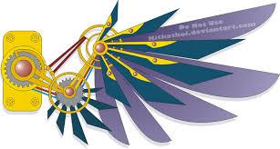 steampunk wing tattoo design by nepherimcrystal on deviantart