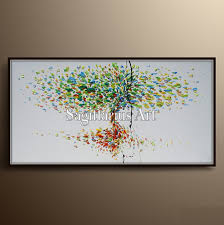 tree of life home decor texture tree oil painting on canvas thick layers tree of life