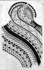 collection of 25 black polynesian tribal design