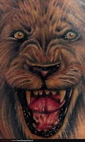 angry 3d lion face tattoo design u2013 truetattoos
