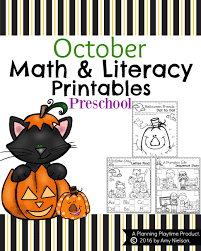 Halloween Cut And Paste Printables by October Preschool Worksheets Planning Playtime