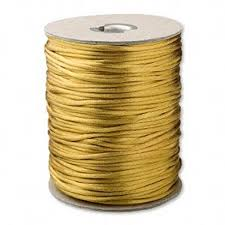 rattail cord 100 antique gold satin cord 2mm rat rattail new