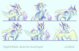 cloud dragon expression sheet by bedupolker on deviantart