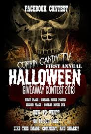 happy halloween cover photo coffin candy tv